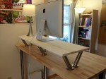 Standing desk from behind